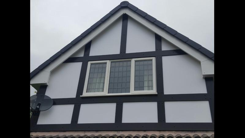 Image 92 - Mock Tudor and white upvc backing board , no more painting 😄