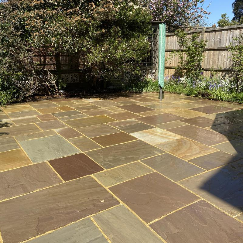 Image 15 - The same Ashford patio cleaned and treated for blackspot.