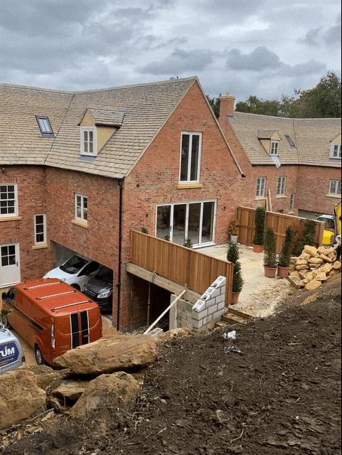 Image 2 - 2. New build (groundworks, structural and masonry works) - near completion