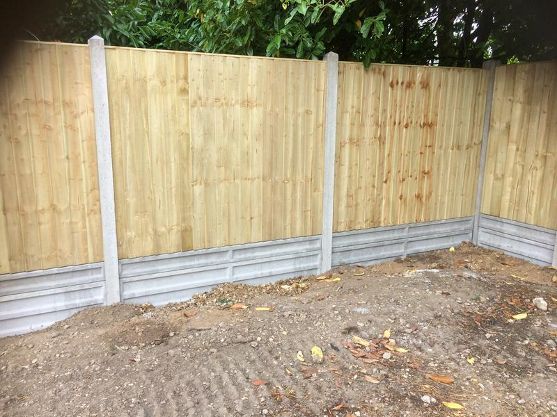 Image 8 - Close board panels with concrete posts and gravel boards