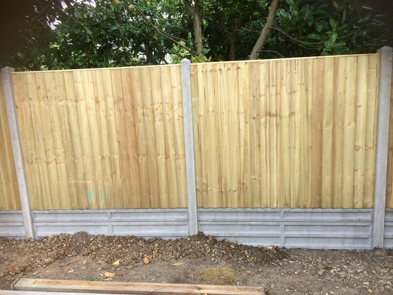 Image 9 - Close board panels with concrete posts and gravel boards