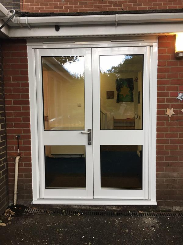 Image 22 - Aluminium Door fitted at a Thurrock School