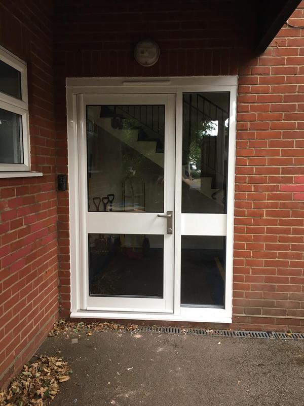 Image 23 - Aluminium Entrance door fitted at a Thurrock School