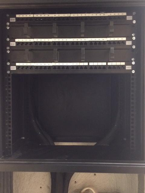 Image 5 - A data cabinet with CAT6 cabling that we supplied and fitted at some offices in Epsom.
