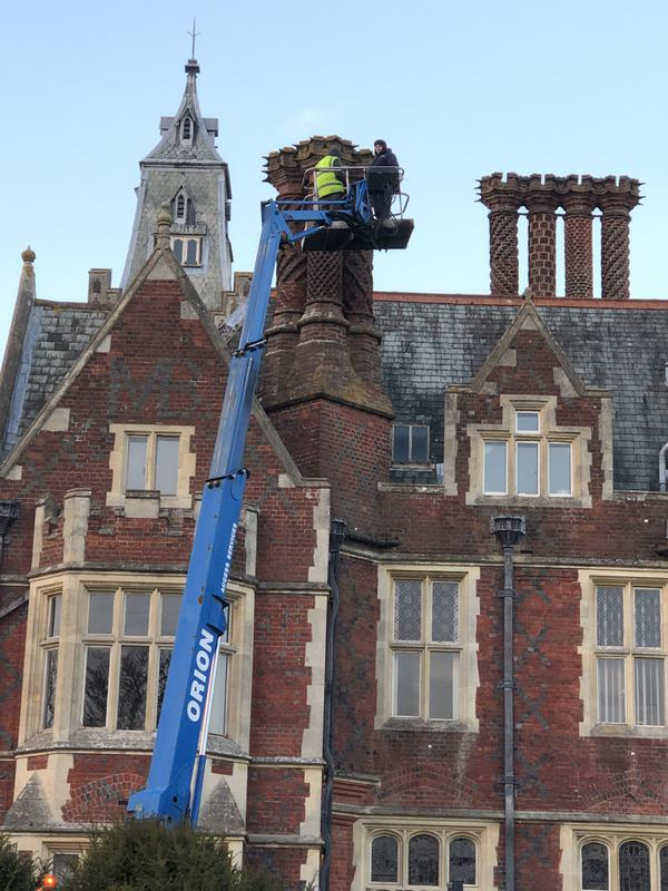Image 4 - chimney repairs at the grade 1 listed national trust site in Berkshire