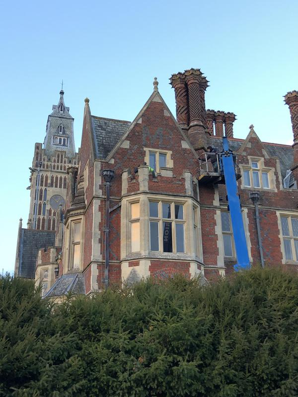 Image 3 - Chimney maintenance and repairs at Aldermaston House Berkshire Grade 1 listed national trust site