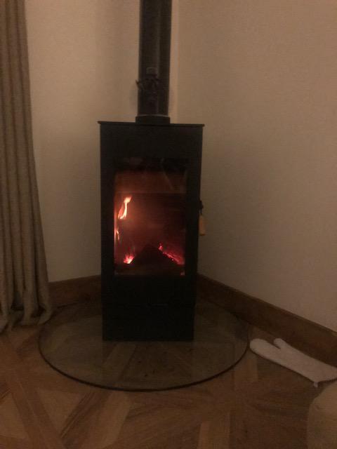 Image 7 - Wood burner installation