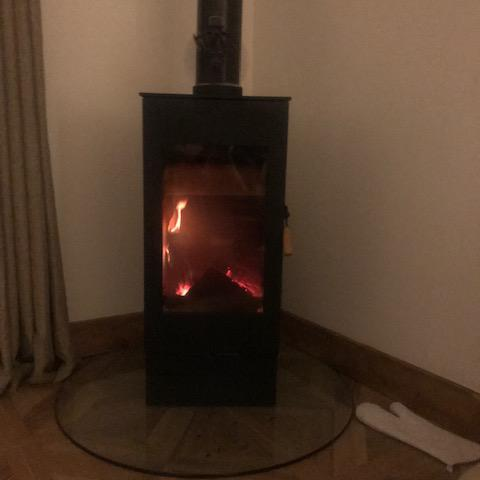Image 9 - Wood burner installation
