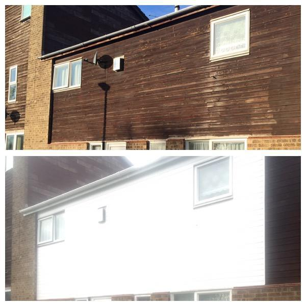 Image 44 - All old tired wooden cladding replaced with a maintenance free upvc white cladding.
