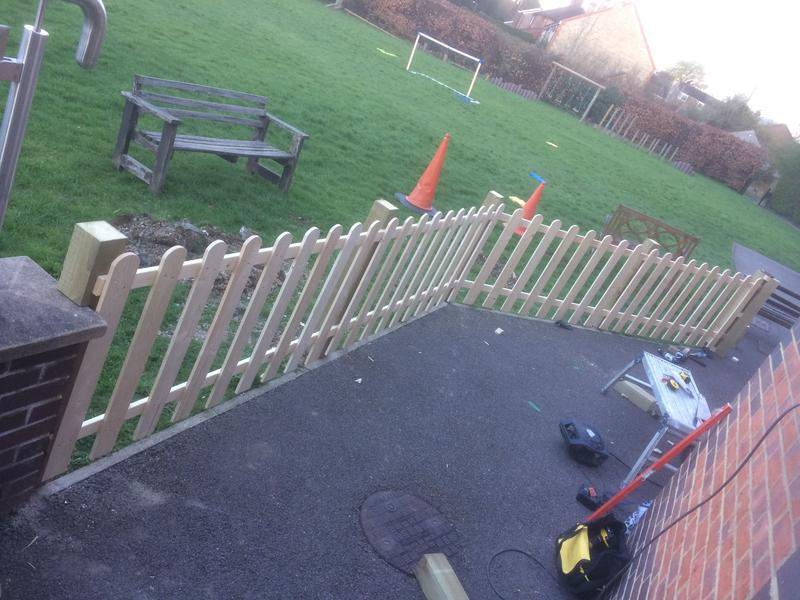 Image 37 - New fence with gate put up