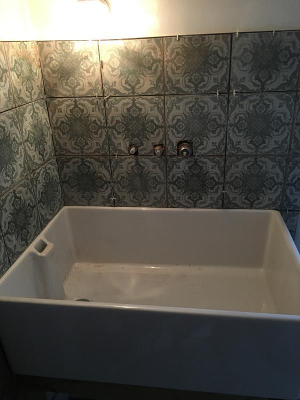 Image 13 - Installation of dog bath area