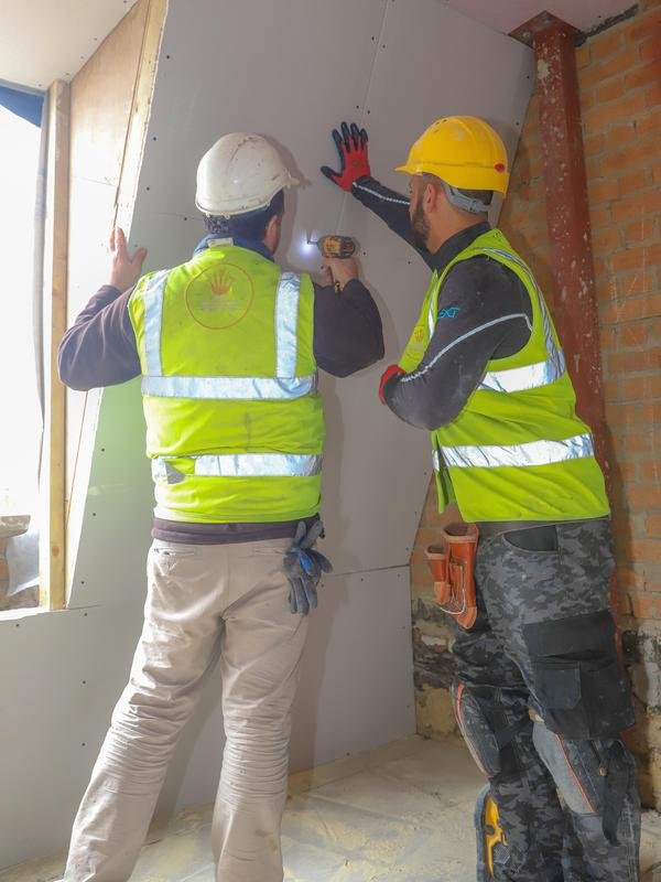 Image 2 - Fixing plasterboard and installing installation