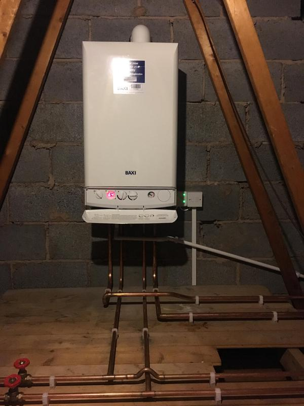 Image 15 - New Baxi moved up to the loft from the kitchen.  Combi boiler installed to replace existing boiler, tanks and cylinder to create more space.