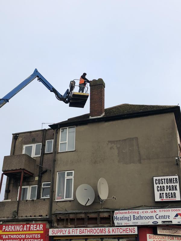 Image 5 - Chimney re-pointing and bird guard cowling fitting with the use of or truck mounted cherry picker