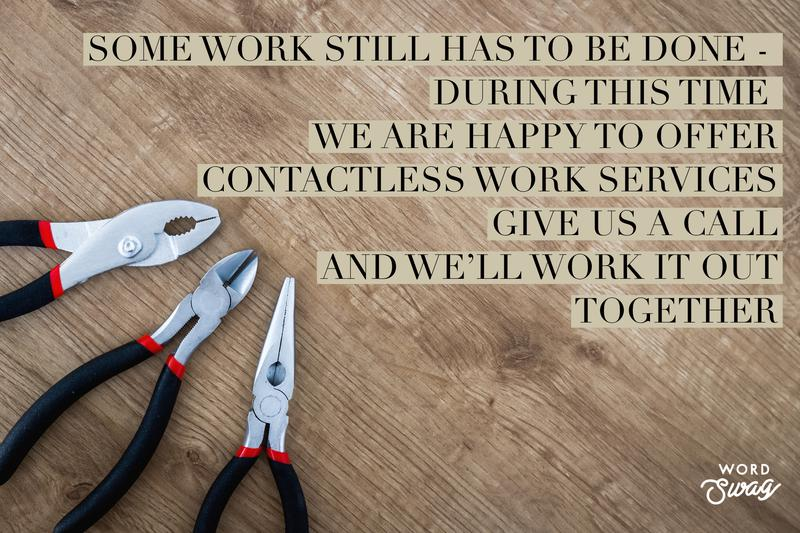 Image 1 - If you are concerned about having people round to work on your house during the pandemic, but still have essential work that can't wait, then we are happy to work alongside you to avoid unnecessary contact. Give us a call, and we'll work it out together...