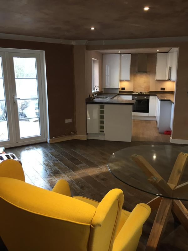 Image 8 - Open plan living room and kitchen diner by DKM Developments Ltd, builders, Great Dunmow, Essex