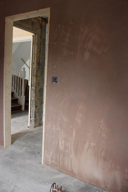 Image 21 - Extension being plastered