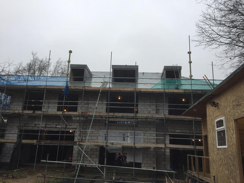 Image 4 - Large project in Hampstead - random slating diminishing courses