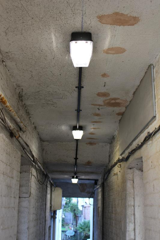 Image 7 - New lights fitted down alleyway