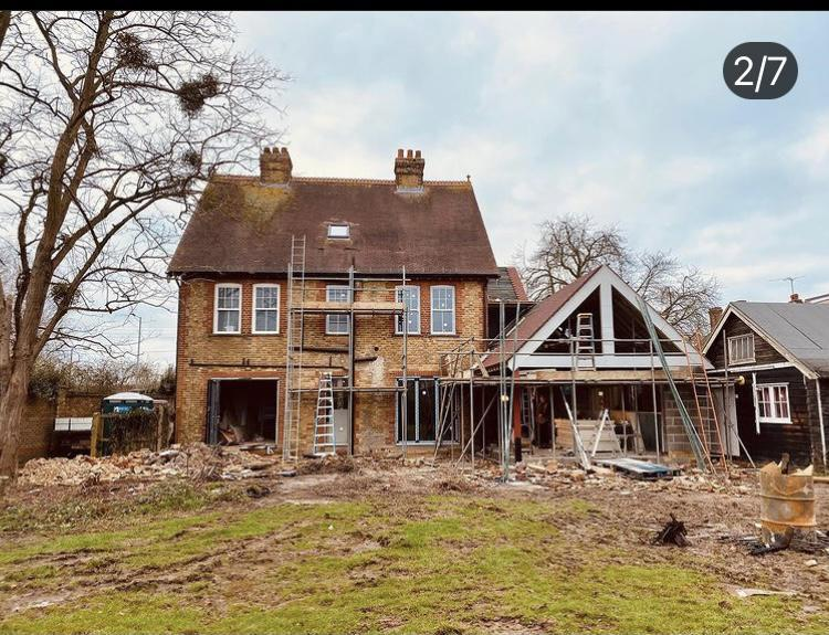 Image 5 - Manor House renovation with side extension, February 2020