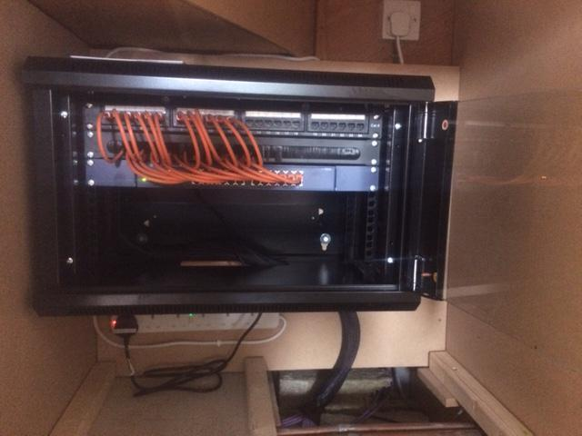 Image 9 - Another neat and tidy CAT5e data cabling installation.