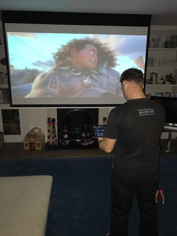 Image 17 - Projector Screen Install
