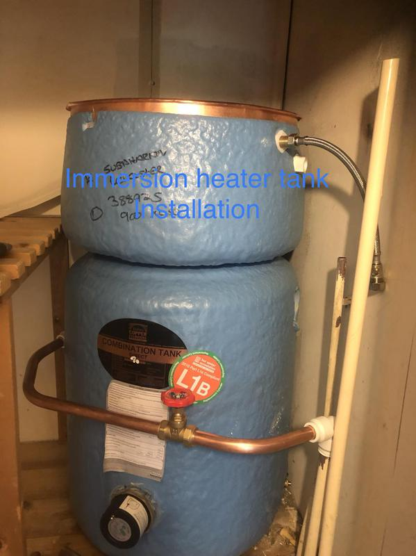 Image 9 - Combination direct hot water cylinder installation