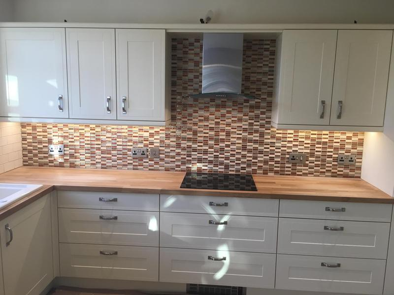 Image 12 - kitchen splash with a feature mosaic wall and metros with a mosaic border