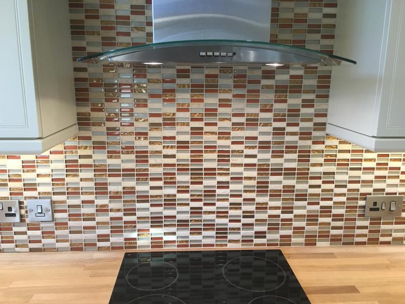 Image 13 - kitchen splash with a feature mosaic wall and metros with a mosaic border