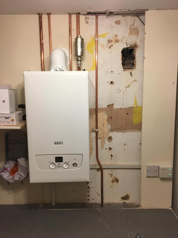 Image 13 - New Baxi 630 combi boiler fitted in the same place as old boiler.