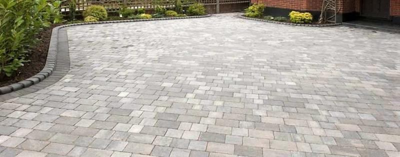 Image 58 - Block paved driveway with kerb edge