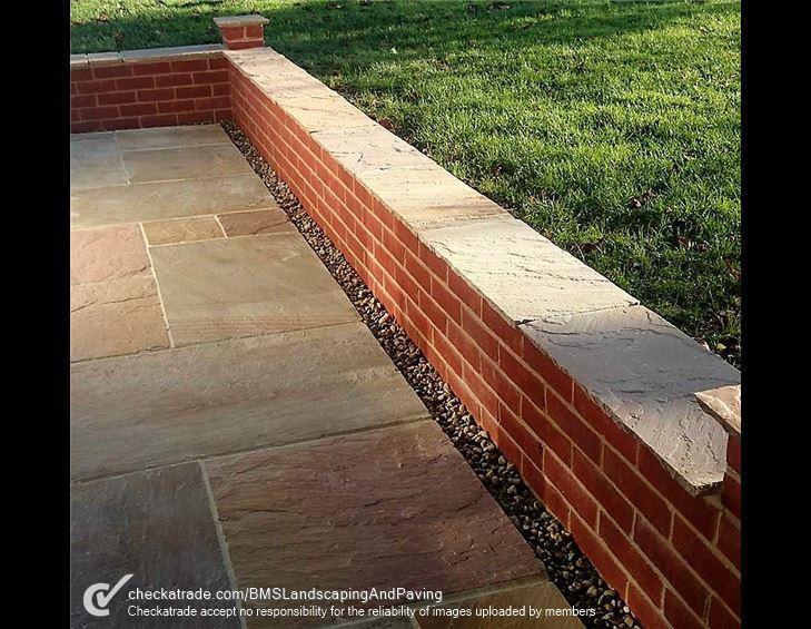Image 59 - Brick wall, indian sandstone patio