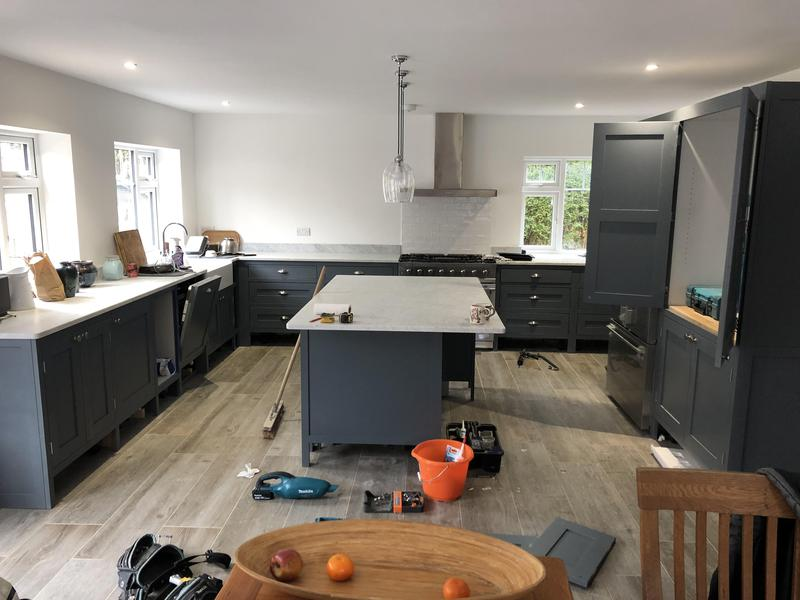 Image 44 - Oak Kitchen and MFC Sprayed with a PreCat Sating finish.