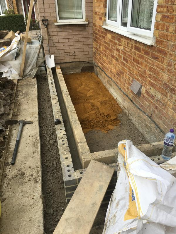 Image 36 - Front extension footings Loughton