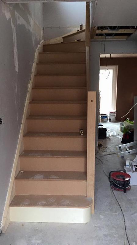 Image 30 - New staircase install on new three bed in Conington.