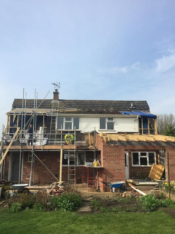 Image 19 - Saham Toney single story extension and dorma extension underway.