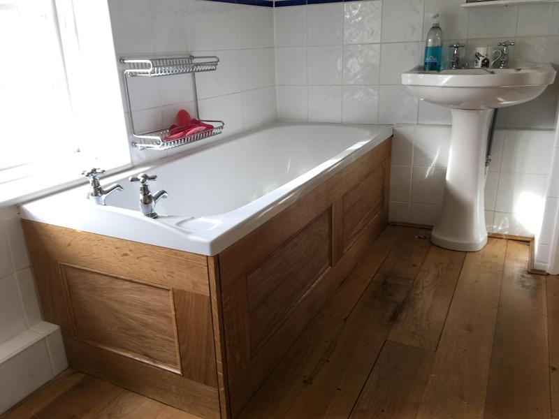 Image 1 - Bathroom panels. Solid oak frame with oak veneered insets - oiled.