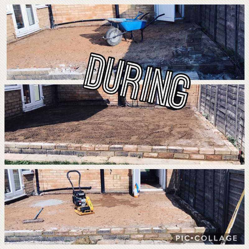 Image 11 - Job 1 in Bletchley - Preping for new Indian Paving.