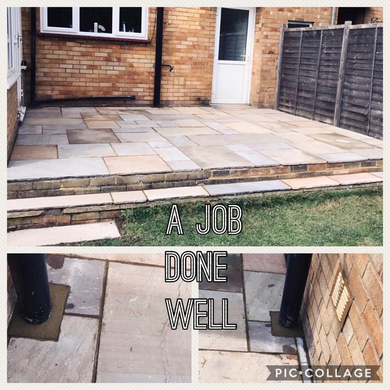 Image 12 - Job 1 in Bletchley - Indian Paved Patio Finished.