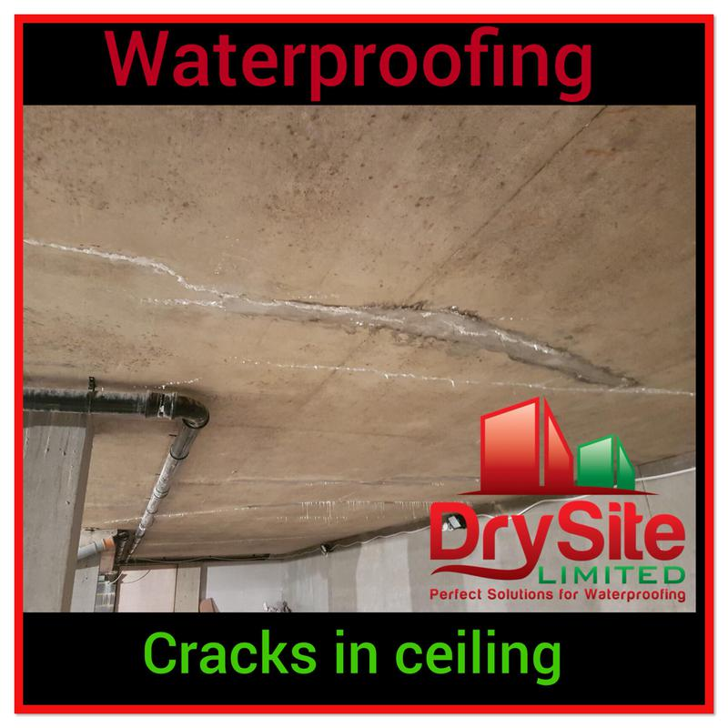 Image 53 - Crack injection in ceiling.