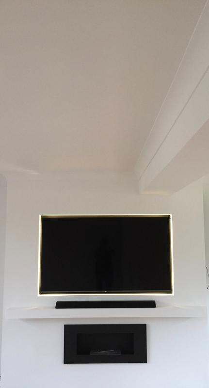 Image 13 - False chimney breast created for home entertainment system