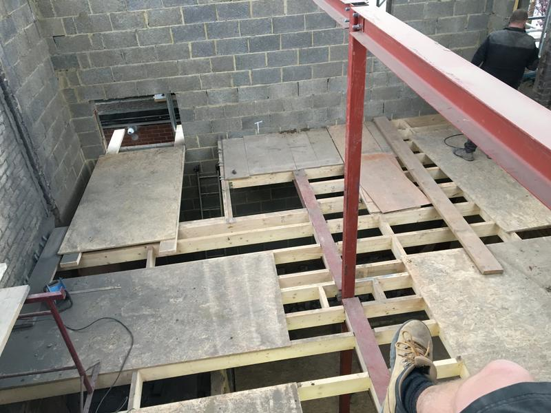 Image 8 - Costed Manor Rd 1st flooring going in