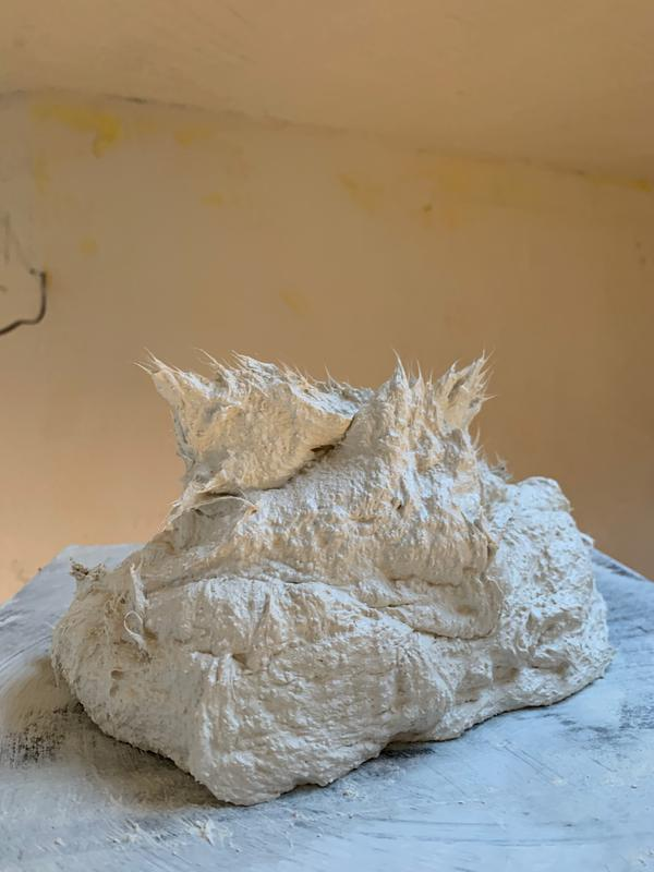 Image 4 - Lime Plaster with fibres added to the mix.