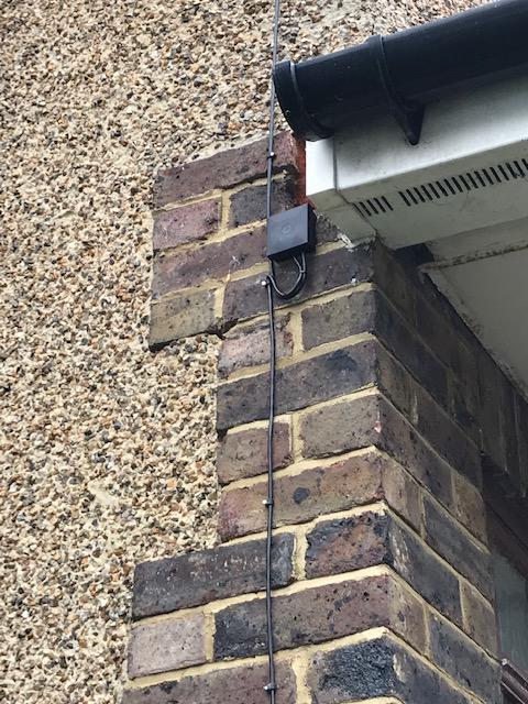 Image 23 - An external BT join that we did at a house so that we could relocate their master BT socket.