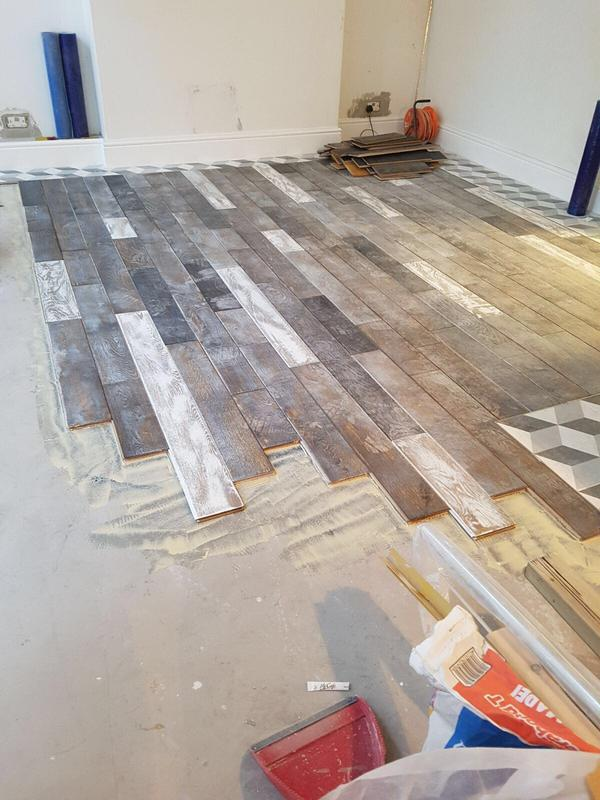 Image 65 - Laying of the floor.