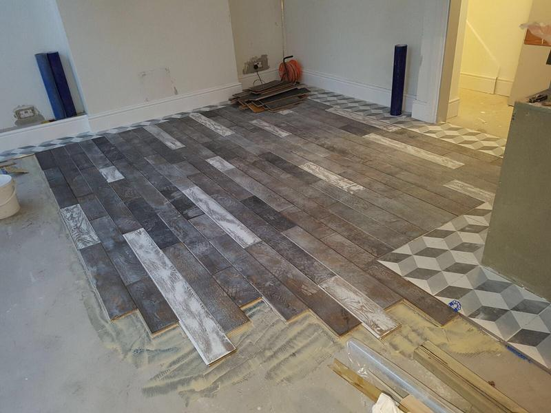 Image 66 - Laying of the floor.