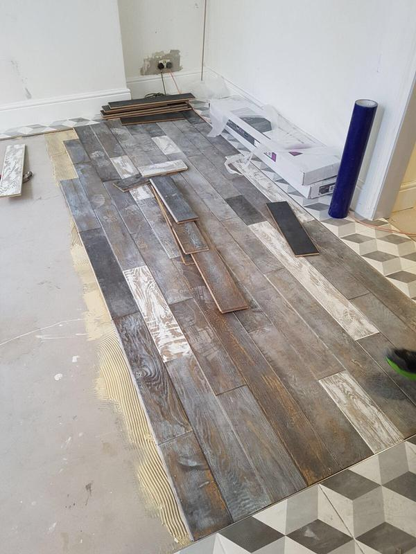 Image 67 - Laying of the floor.