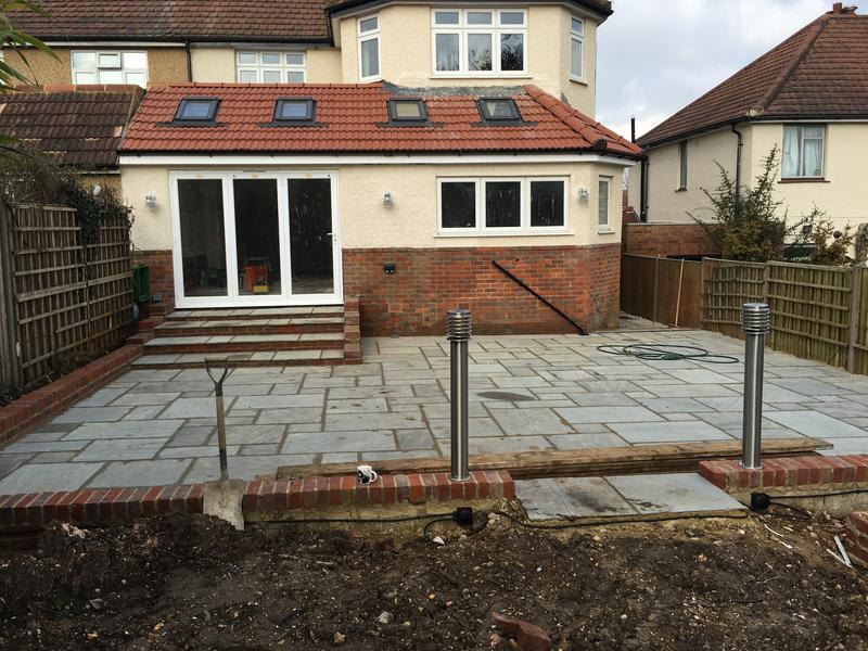 Image 45 - another project completed on time and on budget single storey rear including 300sqm turfing 100sqm indian paving garage conversion various knockthroughs etc