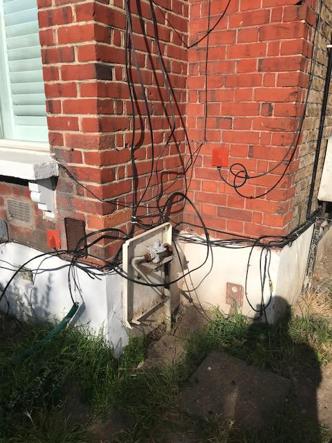 Image 25 - BT and Virgin cabling at some flats in Crystal Palace before we tidied them up.