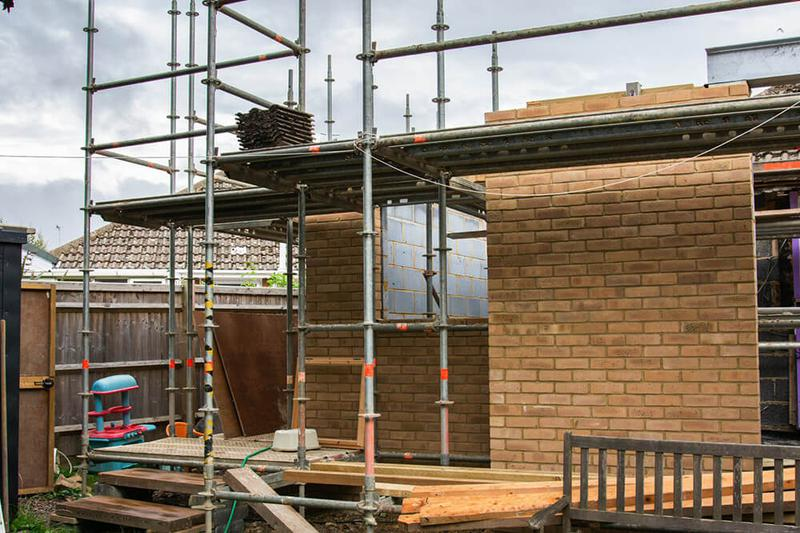 Image 12 - brickwork to new extension